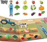 Boerderij Puzzel Magneet Boek Uitklapbaar Plak Speelgoed 3 jaar Memory en Vormen Puzzel Kleurrijk - Creatief Puzzelen Kinderen Boerderij - WoodyDoody