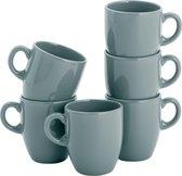 Lite-Body Hermes Koffie beker - 20cl - set van 6 stuks - Groen Grijs