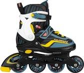 Nijdam Inline Skates Verstelbaar - 38-42 - Game Patrol - Blauw/Zwart