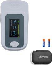 Saturatiemeter | Hartslagmeter | Zuurstofmeter | Vinger pulse oximeter | incl. opbergtas en batterijen | FAGG & CE