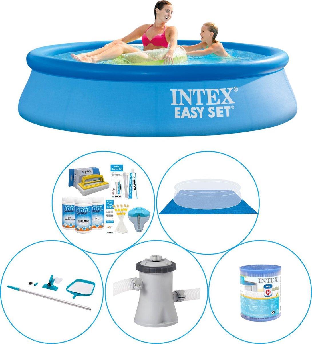 Intex Easy Set Rond 244x61 cm - 6-delig - Zwembad Combi Deal