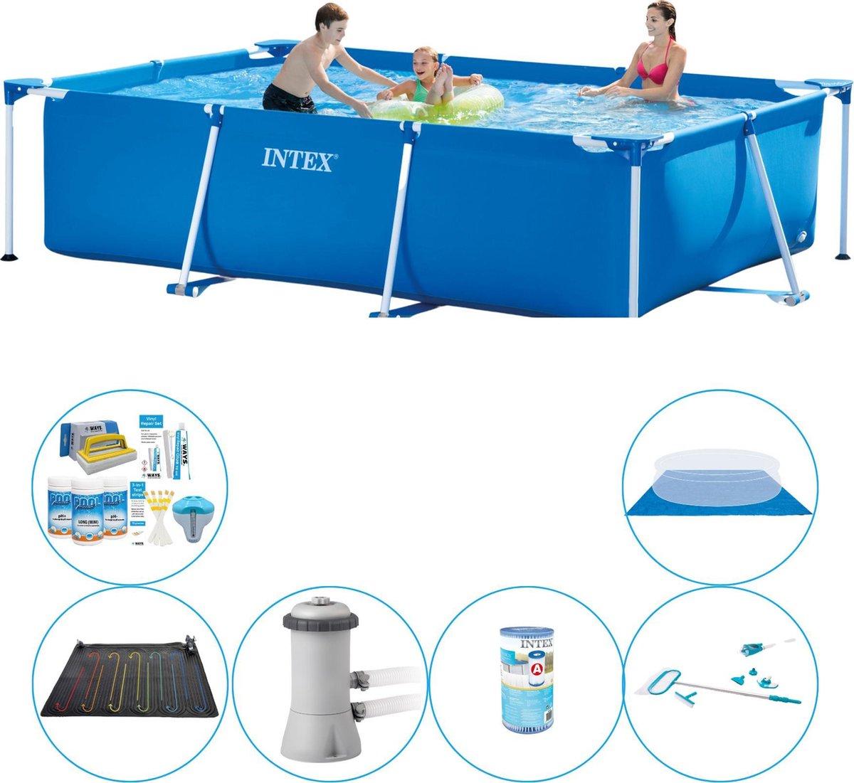 Intex Frame Pool Rechthoekig 300x200x75 cm - 7-delig - Zwembad Set