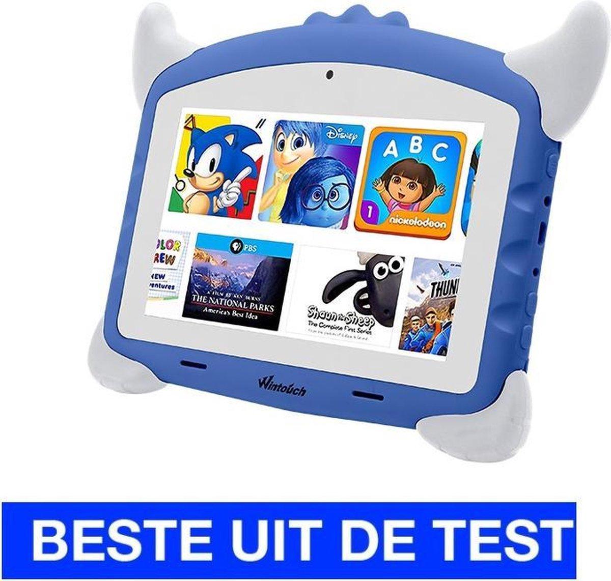 Kindertablet pro Blauw - kidstablet - Disney+ Netflix - Tablet 7 inch - 32GB - 8.1 android - vanaf 2 jaar - Scherp hd beeld - leerzame tablet voor kinderen - Wifi - Bluetooth - voor-achter camera - Play store - uitstekende batterij - 1 jaar garantie