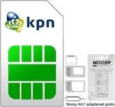 KPN Prepaid | 3in1 Simkaart | Onbeperkte data | €2,50 + €7,50 | Inclusief NOOSY Simkaartadapter| Past in elke telefoon