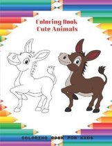 Coloring Book - Cute Animals - Coloring Book For Kids