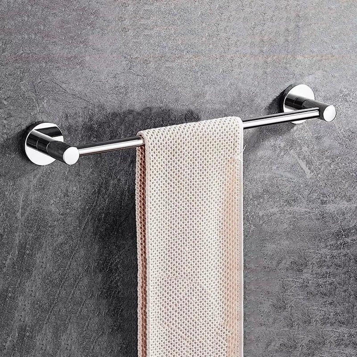 Handdoekrek Zwart Badkamer Handdoekhouder Handdoekstang Handdoek Rek - Badkamer Accessoires - 42cm - GENSTO