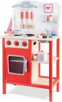 Houten speelgoedkeuken Rood Bon Appetit New Classic Toys