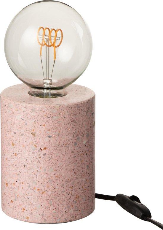 J-Line Lamp Voet Terrazzo Rond Roze