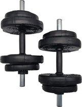 2x Verstelbare Dumbbells - 2x 8 Kg - Halterset - Dumbbell Set 16 Kg - Gewichten - Verstelbaar