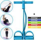 AWEMOZ® Elastische Buikspiertrainers - Ab Trainer - Fitness Elastiek - Buikspieren - Yoga Riem - 5 Weerstandsbanden - Resistance Band - Hometrainer
