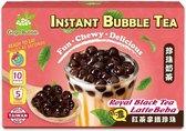 Gogo Bubble Royal Black Tea Latte Boba Instant Bubble Tea Kit (5 / Pack) The Ultimate DIY Boba / Bubble Tea Kit, 5 Drinks, 5 Tapioca Pearls Packets (60g Each), 5 Straws, Complete Set (1 Box)
