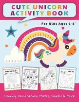 Cute Unicorn Activity Book For Kids