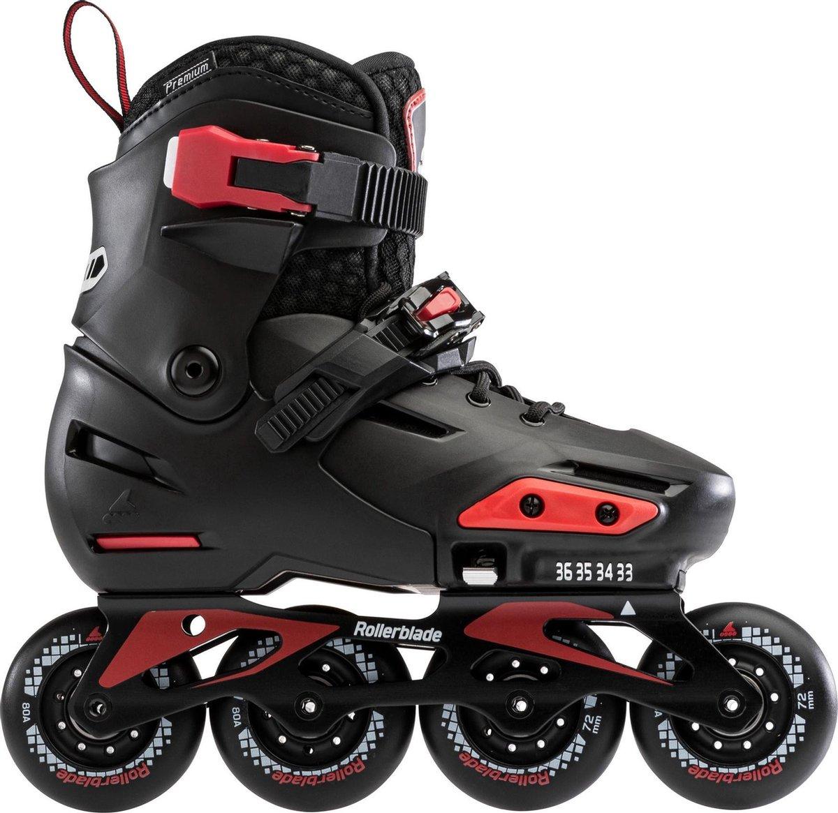 Rollerblade Inlineskates - Maat 33-36 - Unisex - zwart/rood maat:33-36 1/2