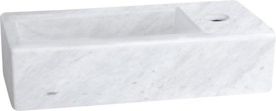 Differnz Helios Fontein – Wasbak Marmer – Toilet Fontein - 37.5 x 18.5 x 9.5 cm
