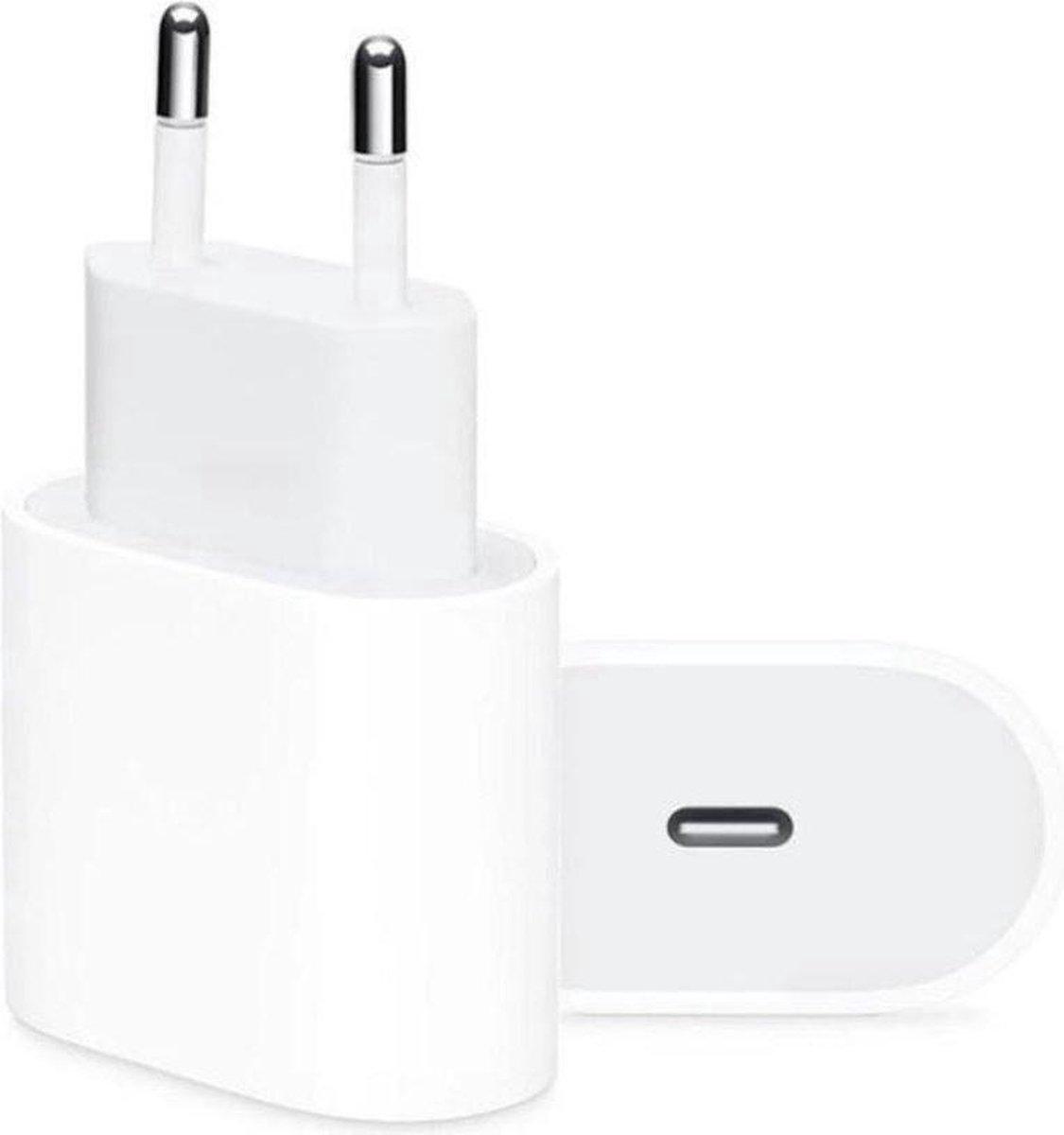 iPhone 12 oplaadstekker 20W USB-C Power oplader - Wit - Geschikt voor Apple iPhone 12 - Apple iPad - USB-C Apple Lightning |Snellader iPhone 12 / 11 / X / iPad / 12 Pro Max / iPhone 12 Pro | iPhone 12 Lader | USBC lader | USB-C Lader | iPhone 12