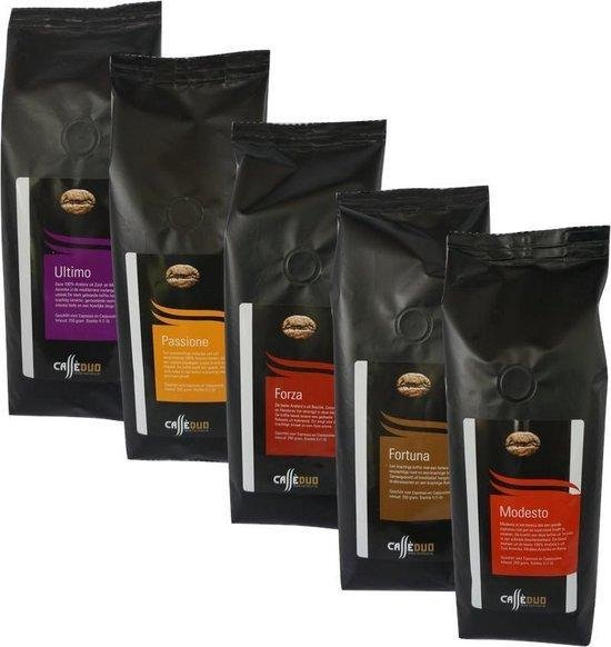 Caffè Duo Proefpakket Melanges Koffiebonen - 5 x 250 gram
