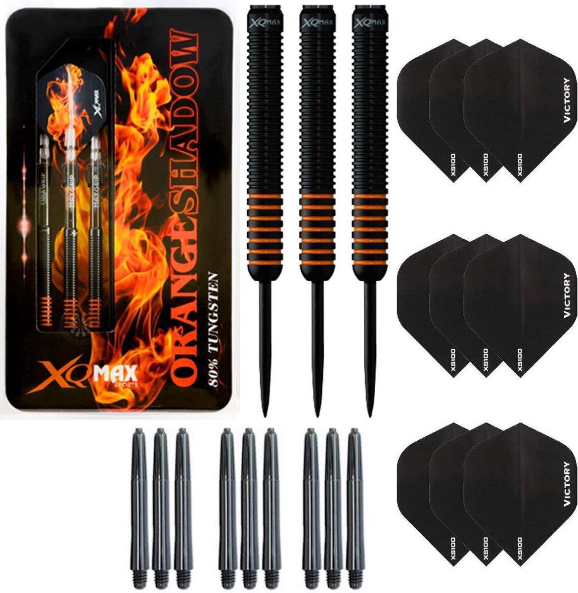 Dragon Darts Orange Shadow - dartpijlen - 23 gram tungsten - inclusief 9 - dart shafts - 9 - dart flights