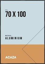Acaza Fotokader - Solid - 70 x 100 cm - Plexiglas - Zwart