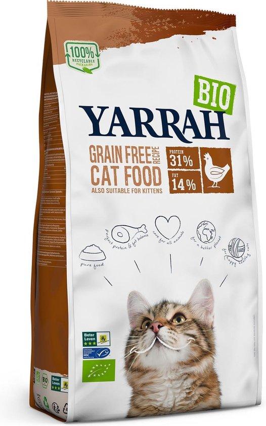 Yarrah Cat Adult - Graanvrij - Kip & Vis - 800 g