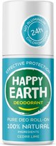 Happy Earth Pure Deodorant Roll-On Cedar Lime 75 ml - 100% natuurlijk