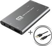 Playpro's 4K Game Capture Card - Inclusief USB & USB-C Kabel - ULTRAHD Video Capture Card - HDMI naar USB - Geschikt voor Gameplay / Videografie / Fotografie - Compatible met Laptop / Desktop / Camera / Cam / Game Console / Switch / PS4/PS5 / XBOX