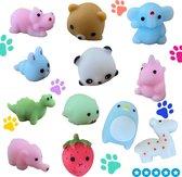 Mochies set van 5 schattige Mochi squishy fidgest-diertjes -soft
