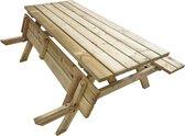 ATLANTIS Houten Picknicktafel  - 180 cm - 6 Personen