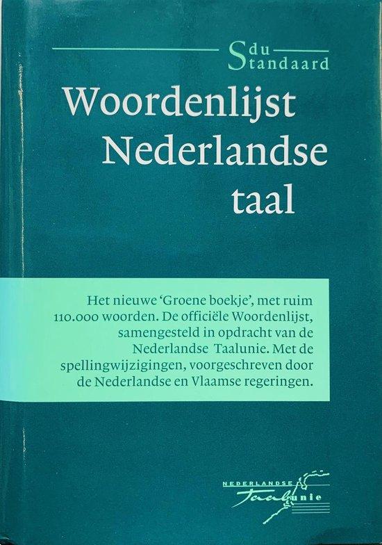 Boek cover Woordenlijst Nederlandse taal van Taalunie (Hardcover)
