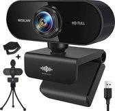 Webcam - 3 MP - Webcam met Microfoon en Gratis Tripod  - 30FPS - 1080x1920 - Webcams - Gaming - Webcam voor PC - Plug&Play - Webcam cover - Laptop Camera - Webcam voor Computer - Windows/IO - Teams - Zoom - USB 2.0 - Werk & thuis