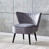 Safoona - Luxe stoel - Sofa Stoel - Relaxstoel - Fauteuil - Stof - Grijs