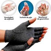 Artritis Handschoenen (Maat M) - Reuma Handschoenen zonder toppen- Compressie Handschoenen - Therapeutische Reuma - Arthritis Gloves - Artrose - Tendinitis - Carpaal Tunnel Syndroom - Verbetering Bloedsomloop - voor Mannen en vrouwen