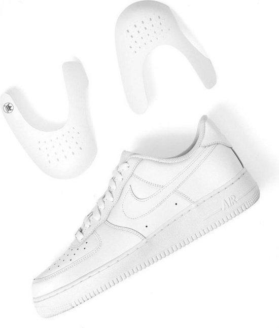 Sneaker Protector - Anti crease - Wit - (L) (Maat 40 t/m 46) - Crease Protector - Anti Kreuk - Sneaker Bescherming - Sneaker Shield  - Shoeshield - Anti Rimpel - Schoen Bescherming - SchoenSchild - Sneakershields - Anti kreuk sneaker - Force Shield
