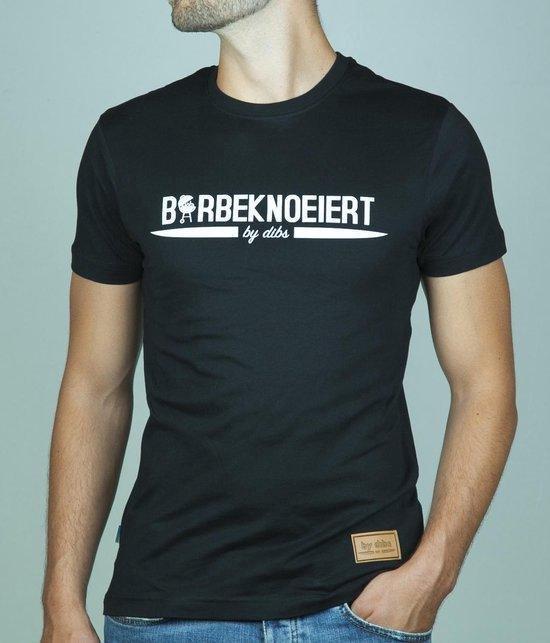 Barbeknoeiert T-Shirt Zwart | Maat S