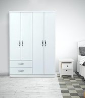 MEISSA garderobe-klerenkast 4 deuren en 2 lades