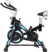 Malatec Hometrainer - Revalidatiefiets - Spinning Bike Hometrainer - 101x50x95CM - Zwart / Blauw