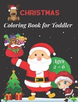 Christmas Coloring Book for Toddler Ages 2 - 6