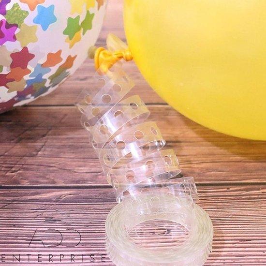 BalloonExpert®️ - Enkel gat ballonnenboog strip 5 meter - Organische ballon strip - Ballonnenhanger - Ballonboog - Ballonstrip - Ballonhanger - Balloon garland kit - Ballonnen boog - Ballonen slinger lint