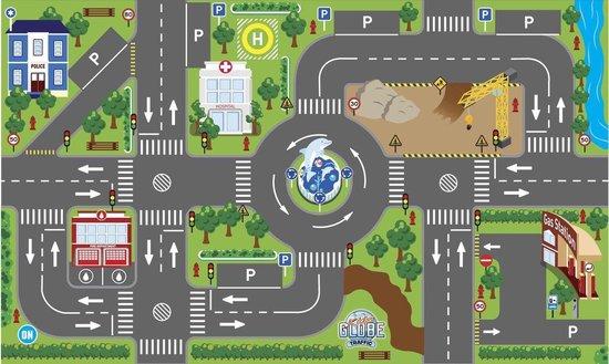 Afbeelding van Kids Globe - Speelkleed verkeer - incl LED verkeerslichten - 100x75 cm speelgoed
