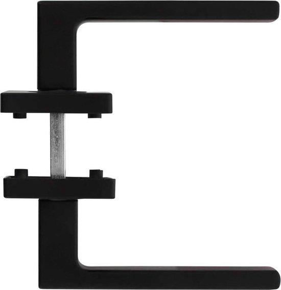 Intersteel Deurkruk Hera op vierkant rozet mat zwart - Intersteel