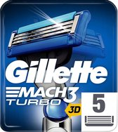 Gillette Mach3 Turbo - 5 Stuks - Scheermesjes