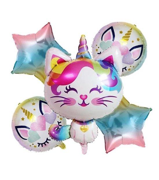 ballon boeket unicorn Poes  5 delige set Kindercrea