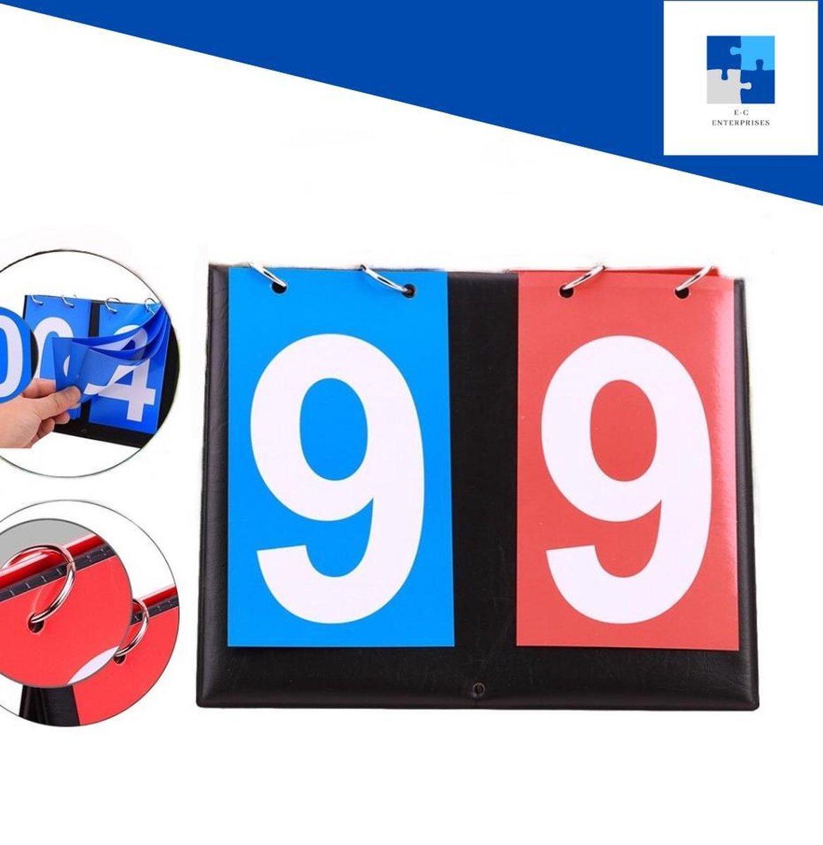 Scorebord - 2 cijfers - score board - score bord - puntenbord - spellen - voetbal - volleybal - buitenspelen