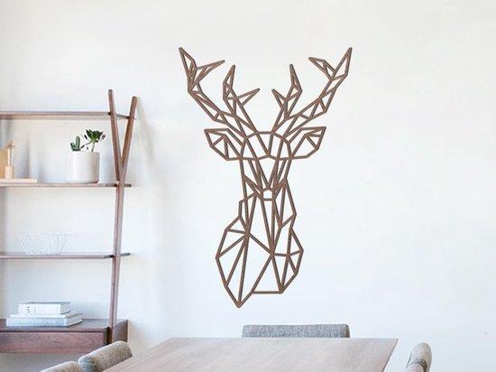 Bol Com Houten Wanddecoratie Geometrisch Hertenkop Geometric Deer Head Black Muur
