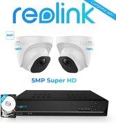 Reolink RLK8-520D2 2x 5MP camera's - NVR 2TB