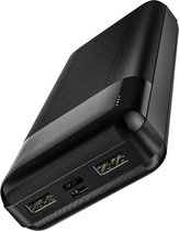 Powerbank 2x USB snellader 20.000 mAh Black Hoco