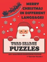 Merry Christmas in Different Languages Word Search Puzzles