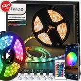 Tigioo LED strip 5 meter - Wifi Lichtstrip met 16 kleuren - dimbaar - incl. App & Afstandsbediening - Zelfklevend