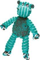 Kong Floppy Knots - M/L - Nijlpaard - Hondenspeelgoed - Groen/ Blauw - 36 x 19 x 8 cm