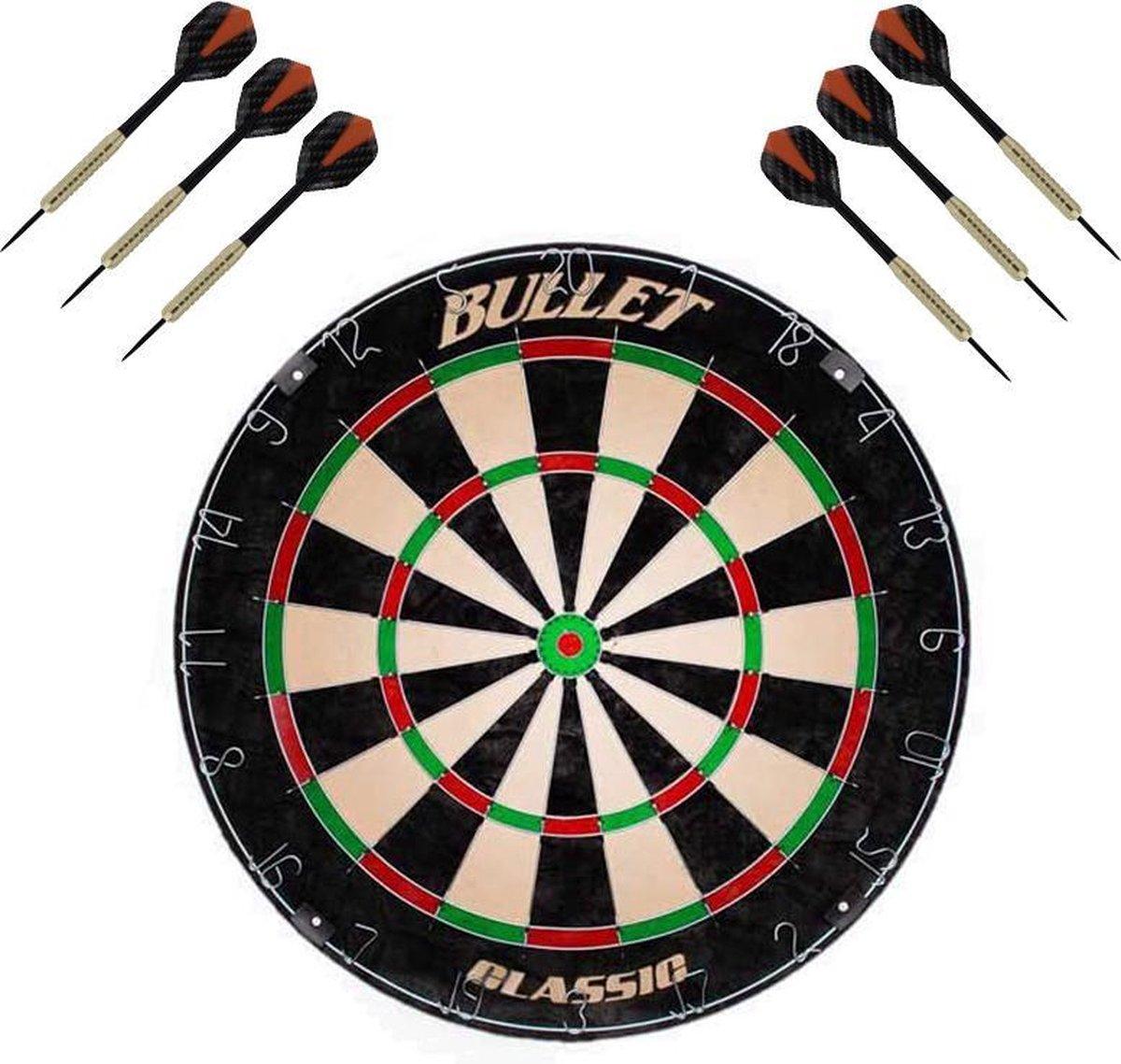 Dragon Darts Bullet Classic - dartbord - inclusief 2 sets - dartpijlen