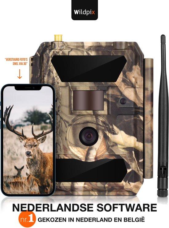 Wildpix Pro 1.3G Professionele Wildcamera met Nachtzicht en 3G - Nederlandse Software en Handleiding - Ontvang Foto's Meteen in je E-mail - Ook Ideaal als Beveiligingscamera Buiten Draadloos